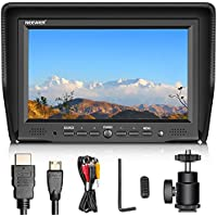 Neewer 7-inch Field Monitor with VGA/AV/HDMI Input IPS Screen 800:1 Contrast 800x480 High Resolution for Canon Nikon Sony Olympus DSLR Cameras and Camcorders (NW708-M) (Battery NOT Included)