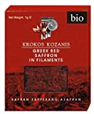 Krokos Kozanis Organic Red Saffron in Flaments 1gx6