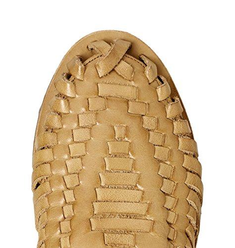 FIND Sandalias de Cuero Trenzado para Mujer Marrón (Cuoio)