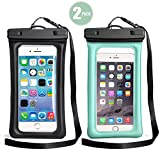TeaTronics Floating Waterproof Case, Waterproof Phone Case IPX8 Waterproof Phone Pouch Available TPU Clear Dry Bag for All Smartphone up to 6.5' …