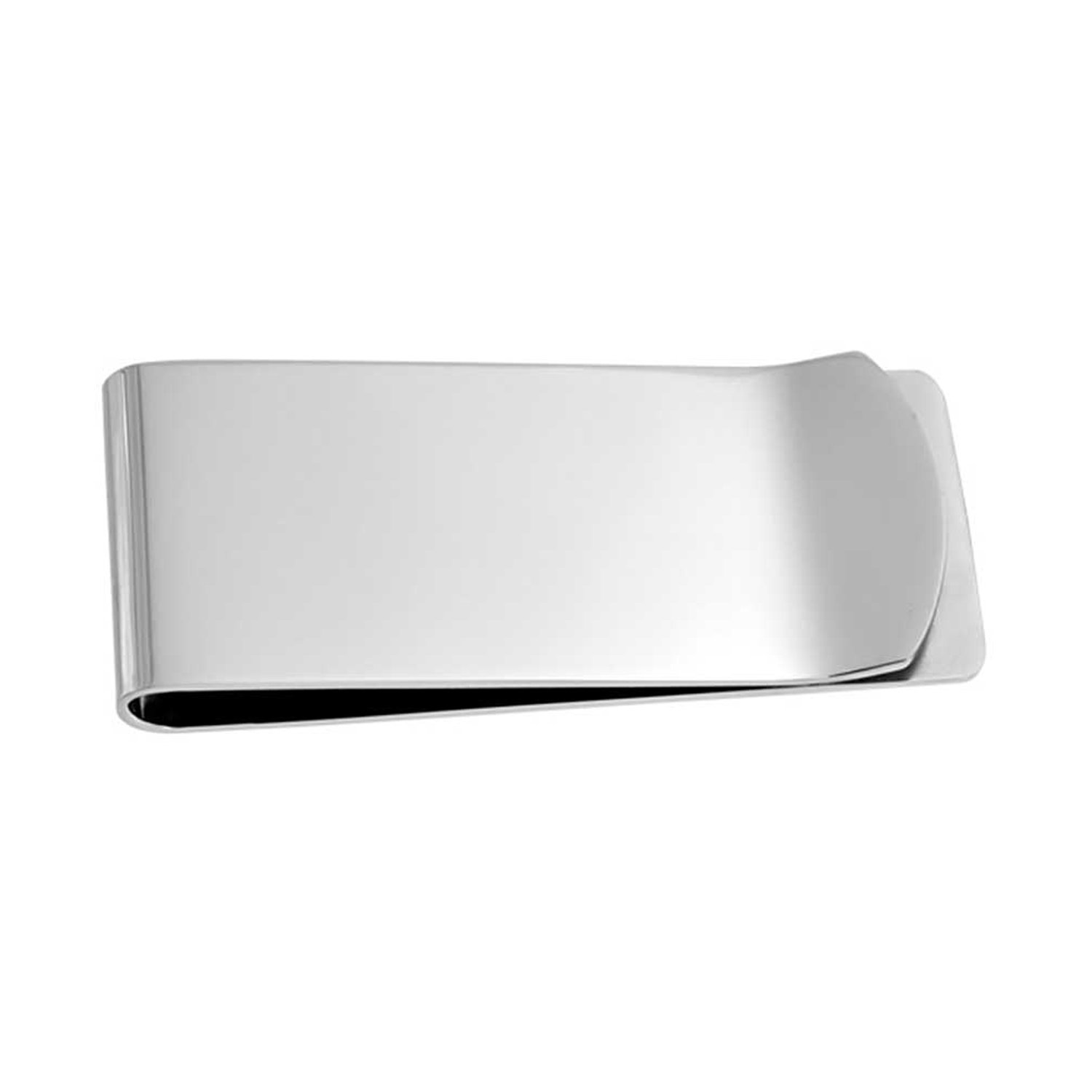 Simple Stainless Steel Polished Finish Mens Money Clip