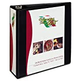 Avery Heavy-Duty Nonstick View Binder, 3'' One Touch Slant Rings, 600-Sheet Capacity, DuraHinge, Black (05600)