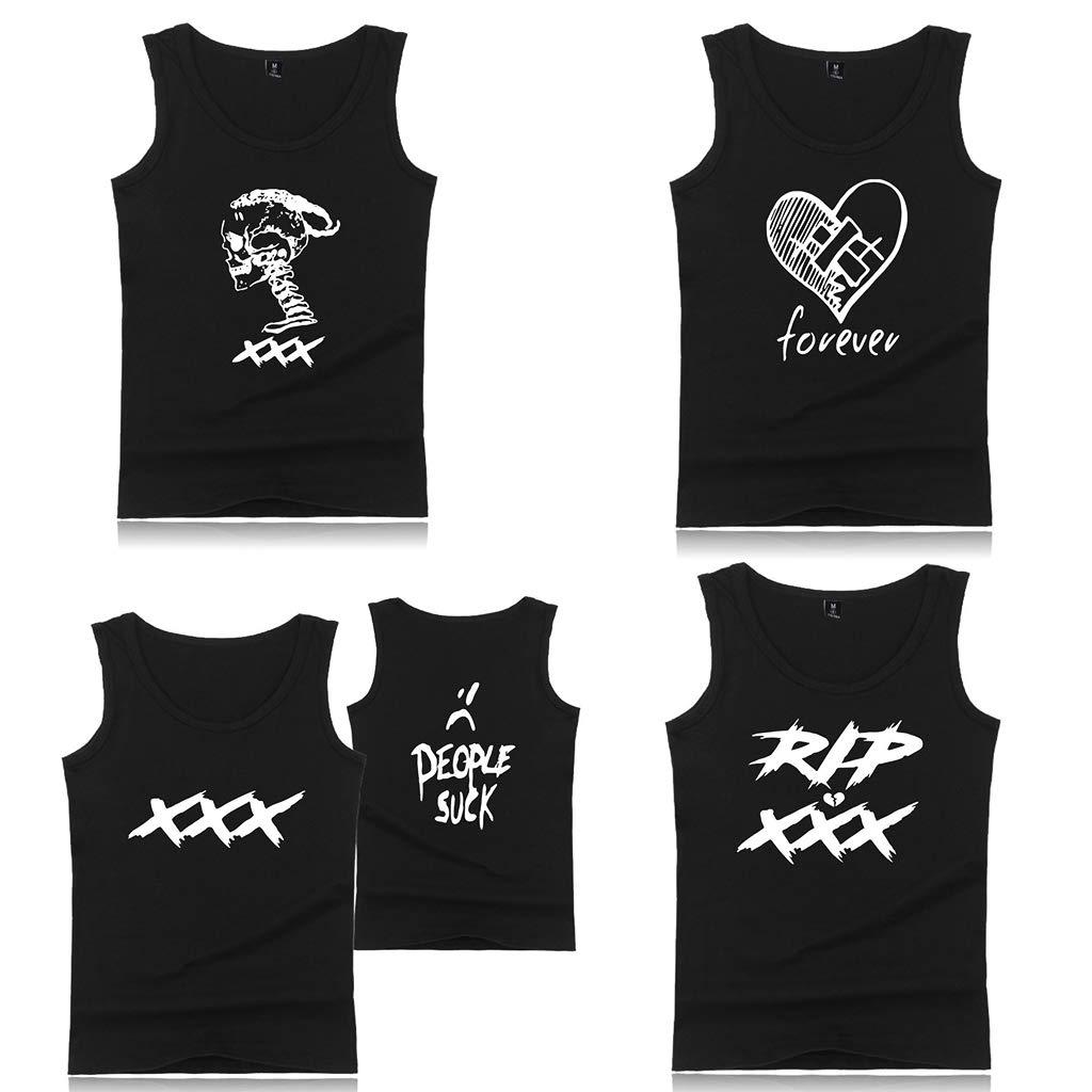 a68ee0edc215 Ruda Camiseta de Los Hombres Más El Tamaño de Verano Sin Mangas Pullover  Camisa Popular Hip Hop Rapper Cartas Corazón Roto Impreso Chaleco Tank Top  ...