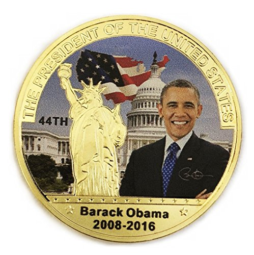 (44th President Barack Obama Commemorative Coin Challenge Coins Novelty Coin Gold Color)