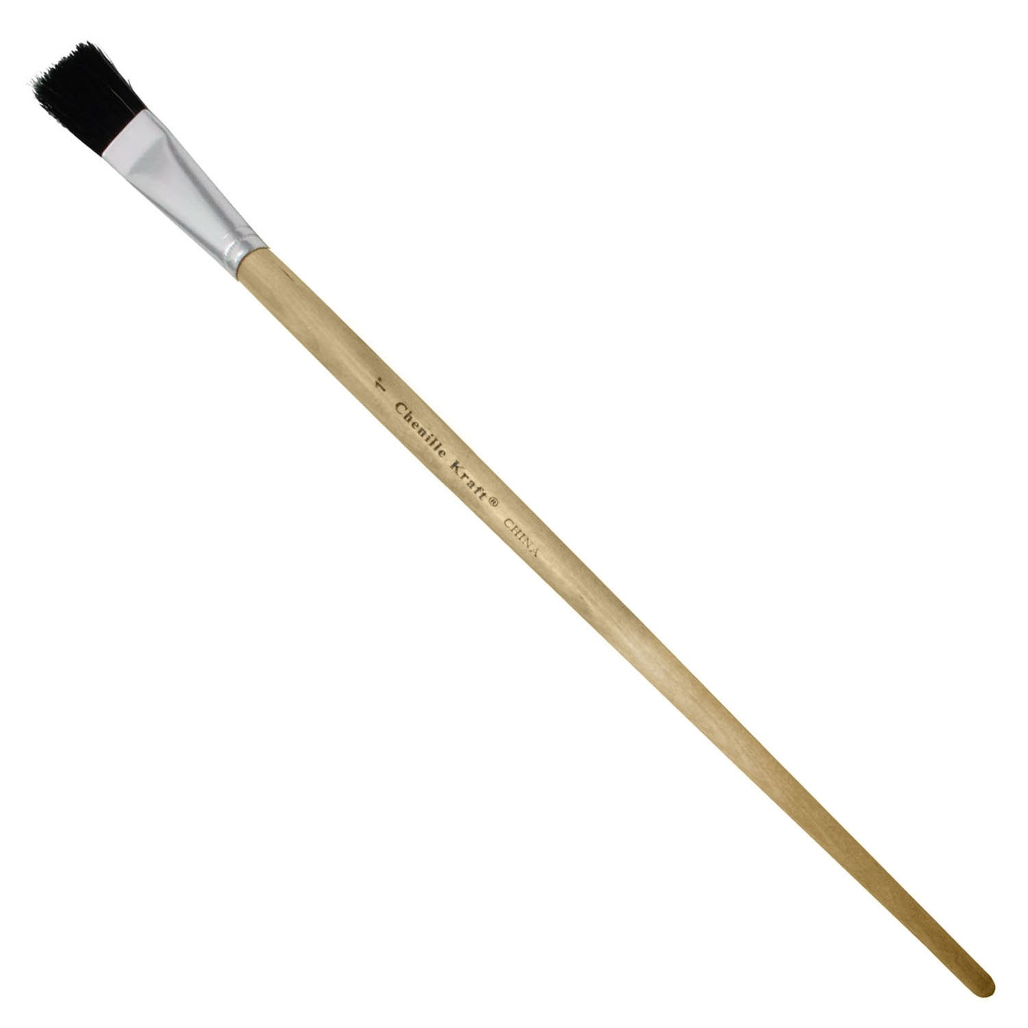 Creativity Street Easel Brushes, Long Handle, Long Handle, 1'' Flat, 13'' Long, 6 Per Pack, 3 Packs by Chenille Kraft