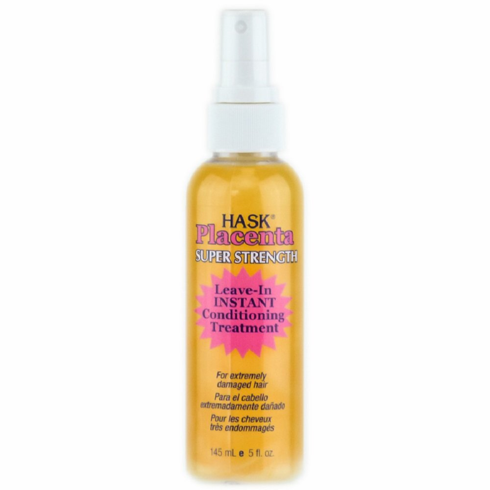 HASK Placenta Super Strength Leave-in Conditioning Hair Treatment Pump, 5 Oz
