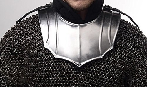 NAUTICALMART Larp Fantasy Medieval Costume Steel Armour gorget SCA reenactment by NAUTICALMART