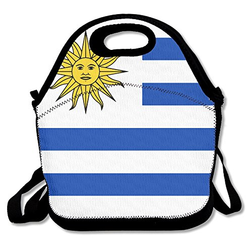 (Uruguay Flags Of Countries Insulated Lunch Bag - Neoprene Lunch Bag - Large Reusable Lunch Tote Bags For Women, Teens, Girls, Kids, Baby, Adults Portable Carry)