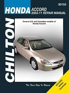 amazon com chilton chi30153 honda accord 03 07 automotive rh amazon com Honda Civic 2003 Manual Ex Z 2003 Honda Civic Repair Manual