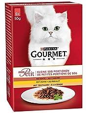 Purina Gourmet Mon Petit Katzennassfutter,  hochwertiges Katzenfutter für ausgewachsene Katzen, 8er Pack (8 x 6 x 50 g)