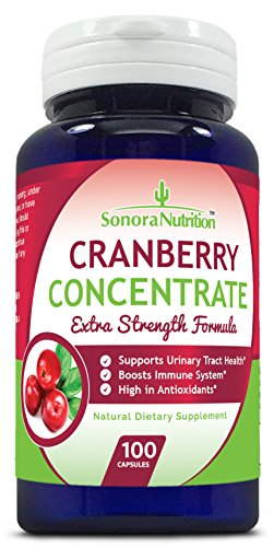 Sonora Nutrition Cranberry Pills Extra Strength Formula Equal to 15,000 mg of Fresh Cranberries, 100 Capsules Review
