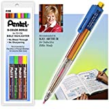 Pentel All-in-One 8 Multi Color Highlighter Pen and Color Lead Refills Combo Set