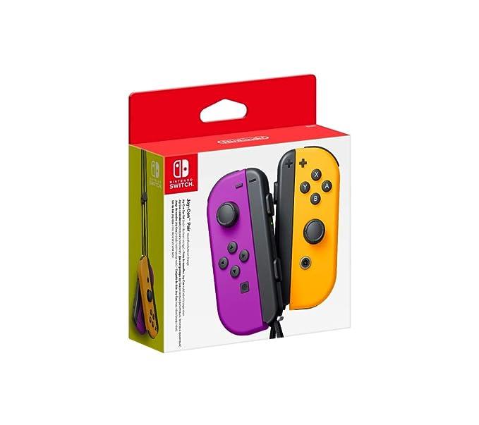 Paire de Joy-Con Violet-Orange néon pour Nintendo Switch