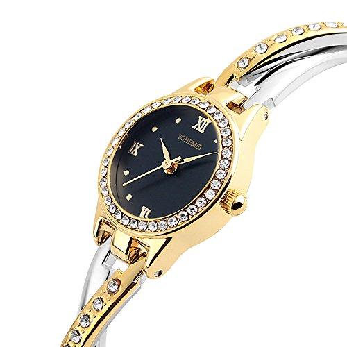 TIDOO Women's Two-Tone Dress Watch Black Dial
