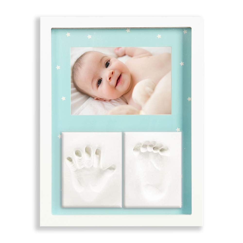 Baby Handprint Kit - Baby Footprint Kit Frame, Clay Handprint Footprint Kit, Baby Photo Frame, Baby Handprint Frame, Newborn Baby Picture Frame, Baby Registry Must Haves Items New Baby Girl Boy Gifts,