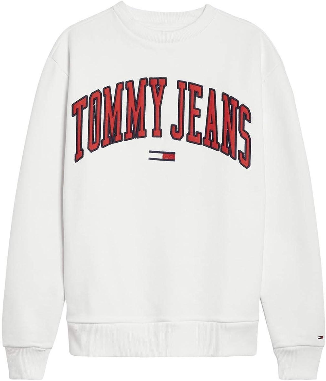 Tommy Hilfiger Sudadera 100 TJW Clean Collegiate Crew: Amazon.es: Ropa y accesorios