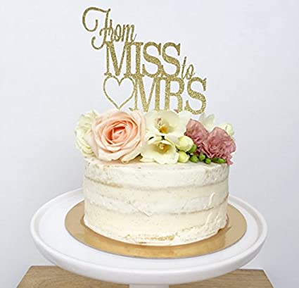 amazon com from miss to mrs cake topper bridal shower