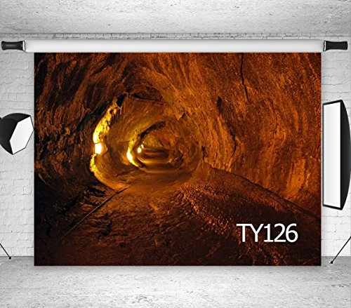 (LB 7x5ft Exploring a Cave Photography Backdrop Treasure Tunnel Photo Background Studio Prop Vinyl Customized TY126)