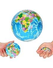 NNGT Wereld Globe Aarde Kaart Geografie Leraar Aid Bal, Squishy Bal, kids globe bal, Wereldkaart Schuim Bal Atlas Globe Palm Ball Planeet Aarde Bal Grappige Gadgets Stress Relief