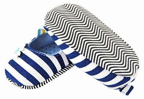 axy - Patucos de tela para niña Azul azul