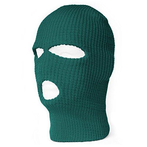 TopHeadwear's 3 Hole Face Ski Mask, Emerlad Green