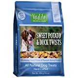 VitaLife Jerky Dog Treats - Natural, Grain Free Sweet Potato & Duck Twists 454 g