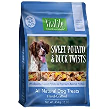 VitaLife All Natural Dog Treats -  Sweet Potato & Duck Twists 454g (16 oz)