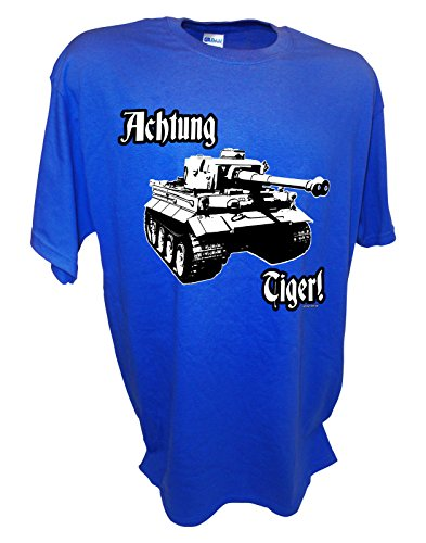 Boys Achtung Tiger Tank 88mm German Panzer VI Ww2 Tee By Achtung T Shirt LLC