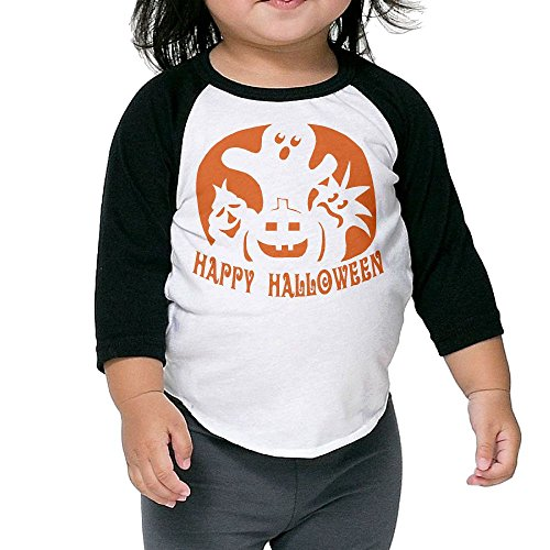 [HAPPY HALLOWEEN Kid's Sleeve Raglan Clothes Unisex 5-6 Toddler Funny] (Infant Toto Dog Costume)