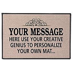 Your Message Here Personalize Your Own Custom Doormat - Indoor/Outdoor