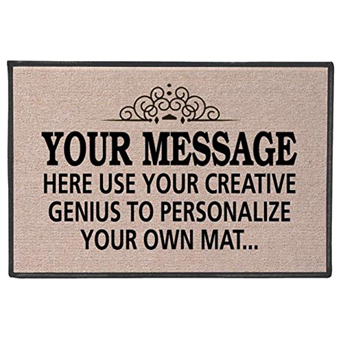 WHAT ON EARTH Your Message Here - Create Your Own Personalized Custom Doormat - Indoor/Outdoor Olefin Welcome Mat ()