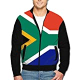 Maread South Africa Flag Men's Print Outdoor Hood Jackets Fashion Jackets Coat with Pockets