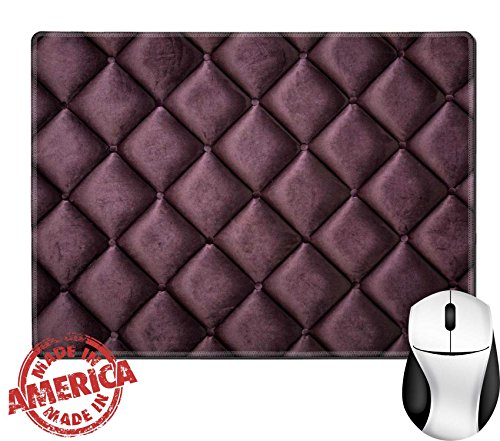 """Luxlady Natural Rubber Mouse Pad/Mat with Stitched Edges 9.8"""" x 7.9"""" close up of silk burgundy sofa IMAGE 33925218"""