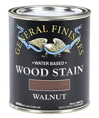 General Finishes WWQT Water Based Wood Stain, 1 Quart, Walnut