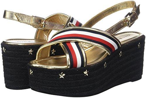 Hilfiger Tommy Espadrilles Flatform Ribbon rwb Femme Sandal Corporate 020 Multicolore 1x4q6dS4w