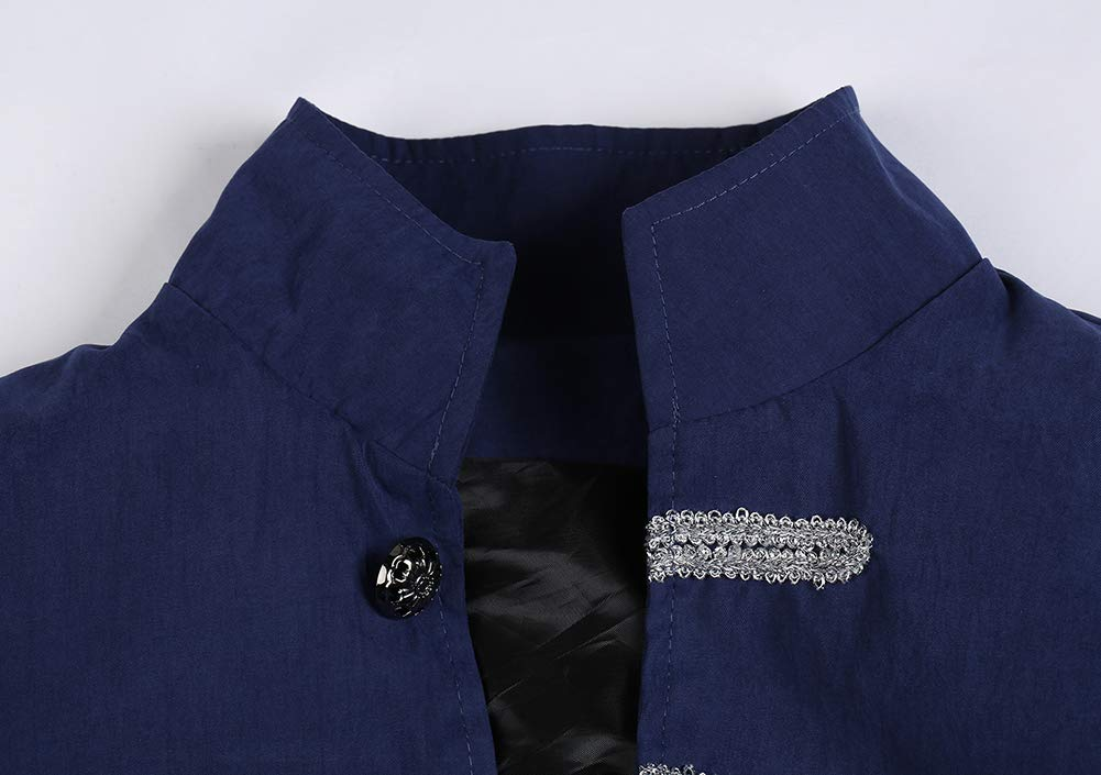 Runyue Uomo Giacca Lunga Steampunk Vintage Tailcoat Cappotto per Costume Vittoriano Halloween Costume