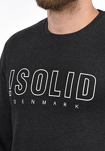 8288 Rond Encolure Sweat shirt Pull Dark Sweat Kian Homme solid Melange Grey En xqw7aT85O