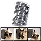 ❀ZTY66®❀ Cat Self Groomer with Cathip Cat Self Grooming Corner Wall Brush Dog Cat Corner Groomer,Wall Corner Massage Comb Grooming Brush