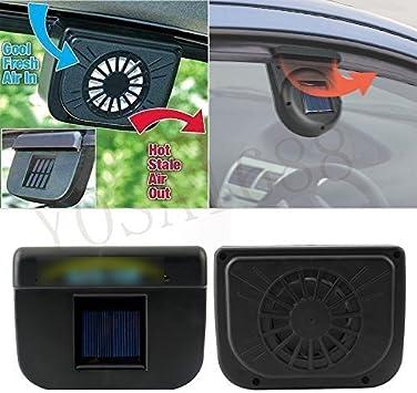 YOSA-EU coche ventilación Ventilador Solar Sol Potencia Ventanilla ...