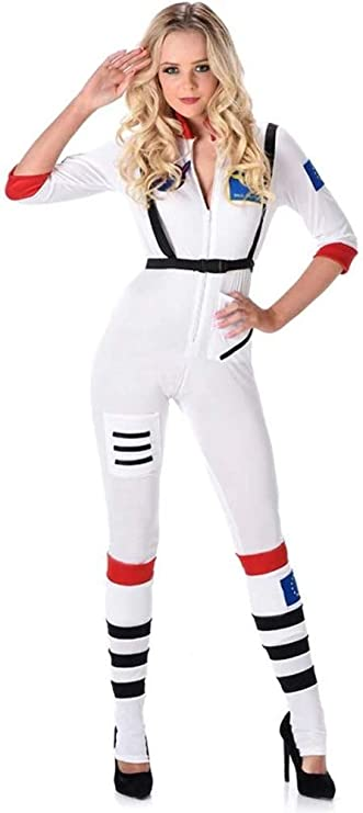 Karnival Costumes- Female Astronaut Disfraz, Color blanco, medium ...