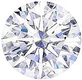 Round 11 mm 9 ct VVS D White Brilliant Cut Lab Diamond Solitaire