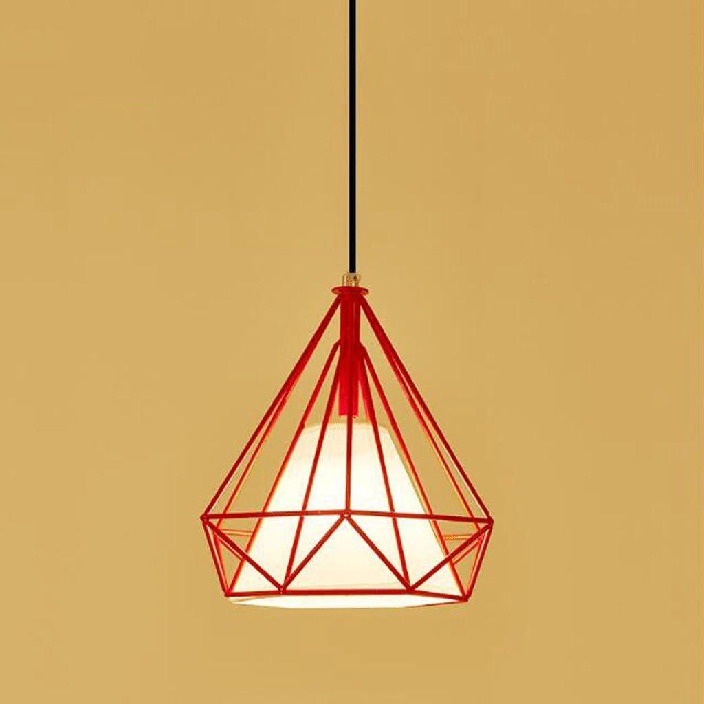 Lámparas de araña Lámpara de Restaurante Minimalista Moderna Personalidad Creativa Arte Sala de Estar Pequeña Jaula de Pájaro de Diamante Hierro Única Cabeza Pequeña Barra de Diamante Lámpara de Mes