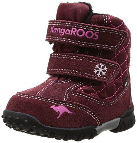 KangaROOS Inscore 3000, Baby Mädchen Lauflernschuhe, Rot (burgundy/magenta 668), 24 EU