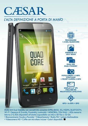 Brondi Caesar 4GB Negro - Smartphone (13,97 cm (5.5