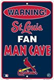St. Louis Cardinals Fan Man Cave Metal Sign 8 x 12