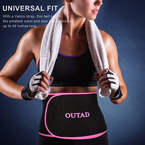 5c2583b8de OUTAD Exercise Waist Trimmer Weight Belt Burn Body Shaper Workout Gym  Fitness  Amazon.co.uk  Sports   Outdoors