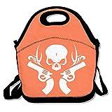 Skeleton Guns White LogoLunch Bag For Women Lunch Bag Lunch Box Food Bag Simple