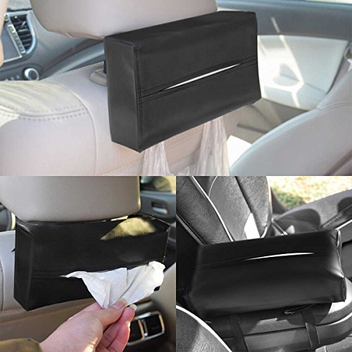 VIPASNAM-Auto Car Sun Napkin Paper Tissue Case Box Holder Artificial Leather Accessories Kentucky Wildcats Tissue