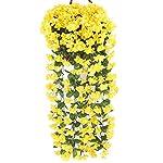 Wcysin-2PCS-Artificial-Vine-Silk-Flower-Garland-Hanging-Baskets-Plants-Home-Outdoor-Wedding-Arch-Garden-Wall-Decor-Yellow