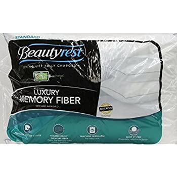 Amazon Com Beautyrest Luxury Memory Fiber Pillow Set Of